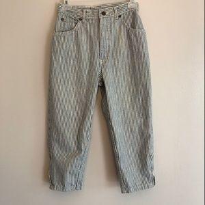 Brooks Rugged Wear Striped Cropped Jeans